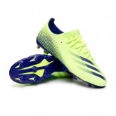 Zapatos de fútbol X Ghosted.3 FG Signal green-Energy Ink-Signal green