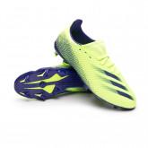 Zapatos de fútbol X Ghosted.3 FG Niño Signal green-Energy ink-Semi solar slime