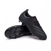 Zapatos de fútbol X Ghosted.3 FG Niño Core black-Grey six-Core black