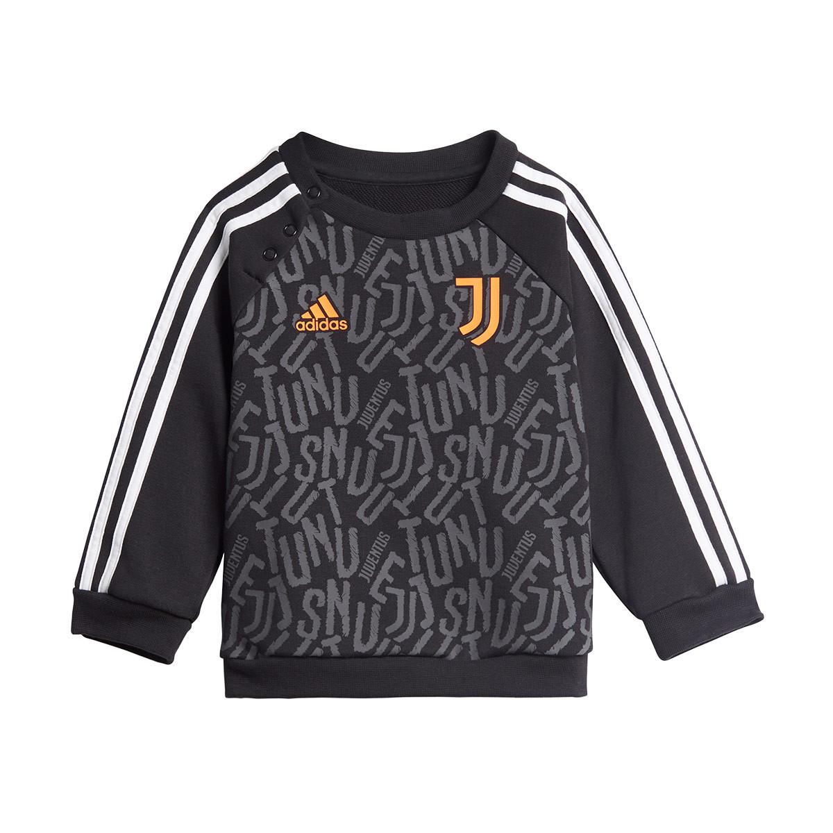 Fusión Sobretodo Artificial  Tracksuit adidas Juventus 2020-2021 Bebé Black-White-App signal orange -  Football store Fútbol Emotion