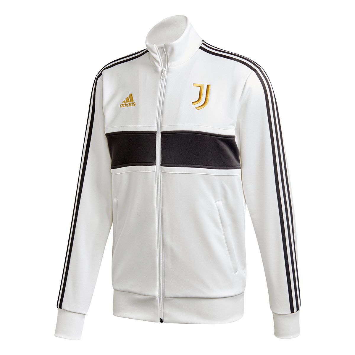 Jacket Adidas Juventus 3 Stripes Track 2020 2021 White Black Pyrite Football Store Futbol Emotion