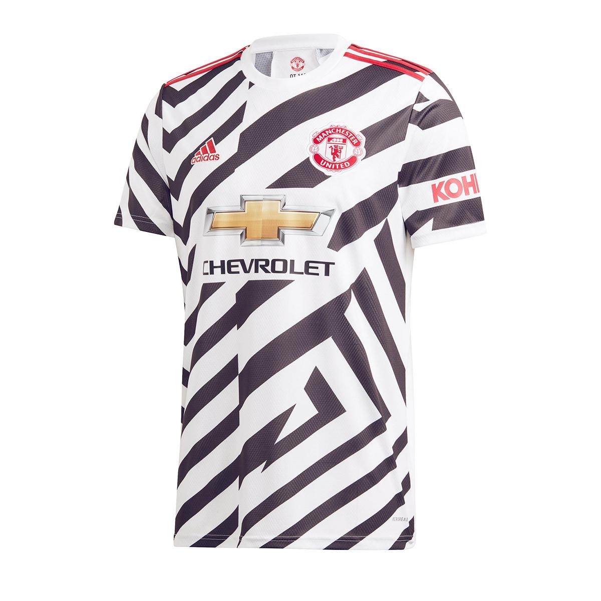 maglia adidas manchester united fc tercera equipacion 2020 2021 white black negozio di calcio futbol emotion maglia adidas manchester united fc tercera equipacion 2020 2021
