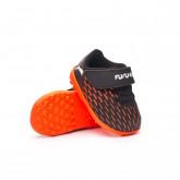 Zapatos de fútbol Future 6.4 TF Cinta Adhesiva Bebé Puma Black-Puma White-Shocking Orange