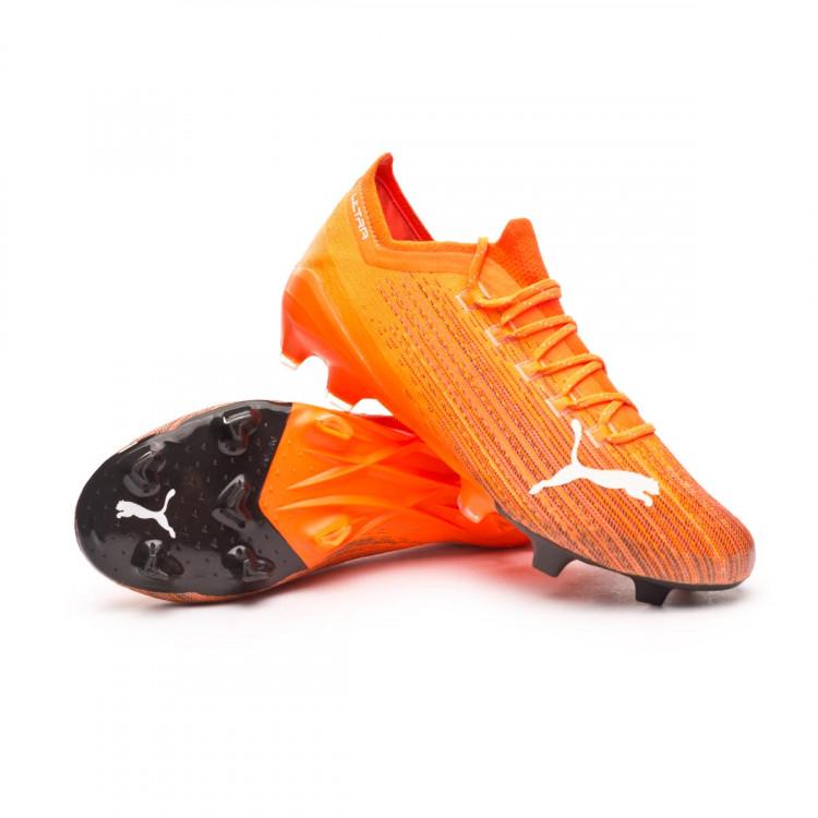 Football Boots Puma Ultra 1.1 FG/AG Shocking Orange-Puma Black ...