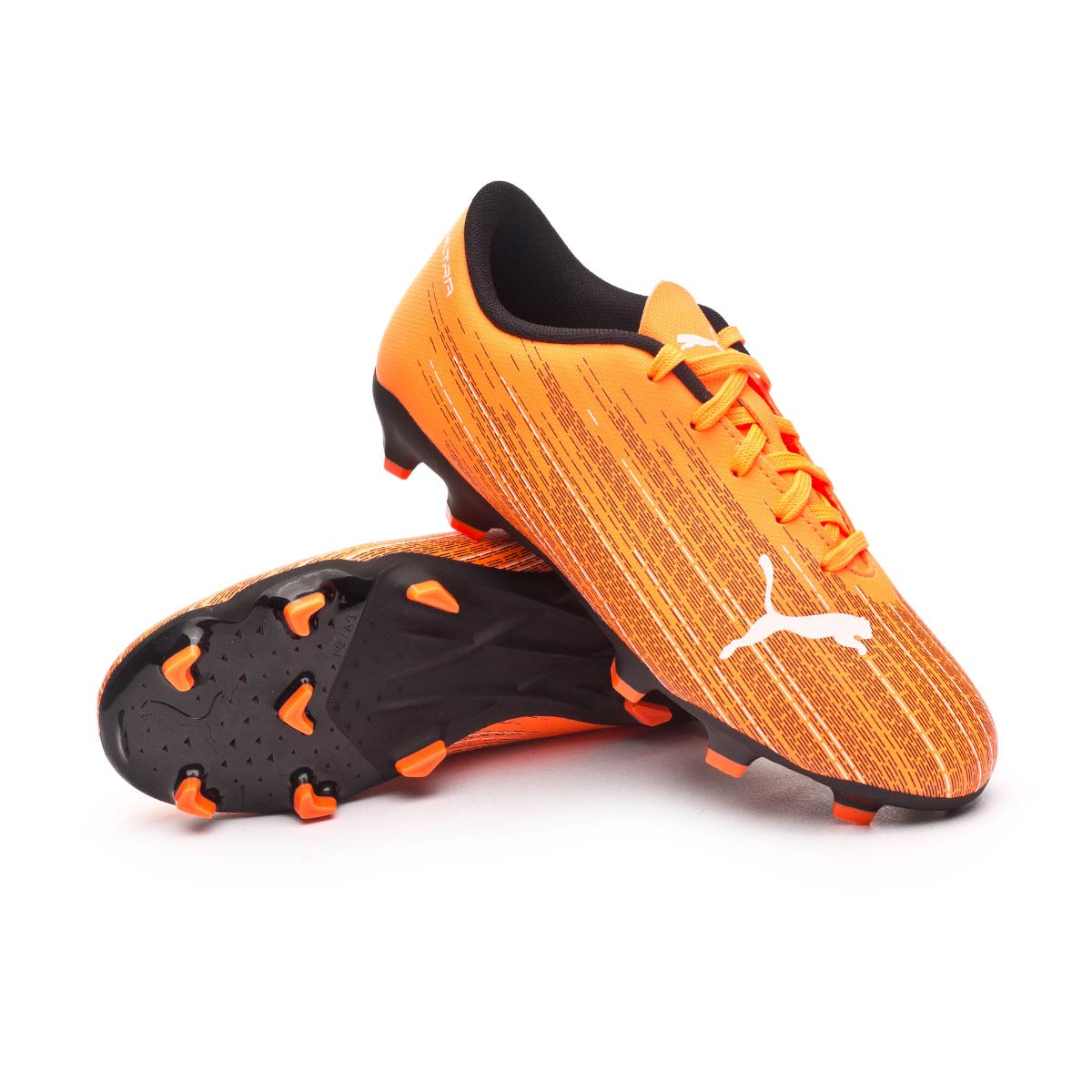 Football Boots Puma Ultra 4.1 FG/AG Kids Shocking Orange-Puma ...