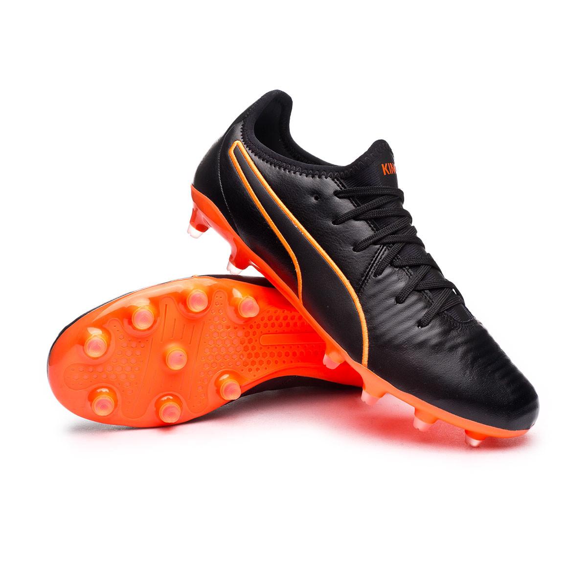 Football Boots Puma KING Pro FG Puma Black-Shocking Orange ...