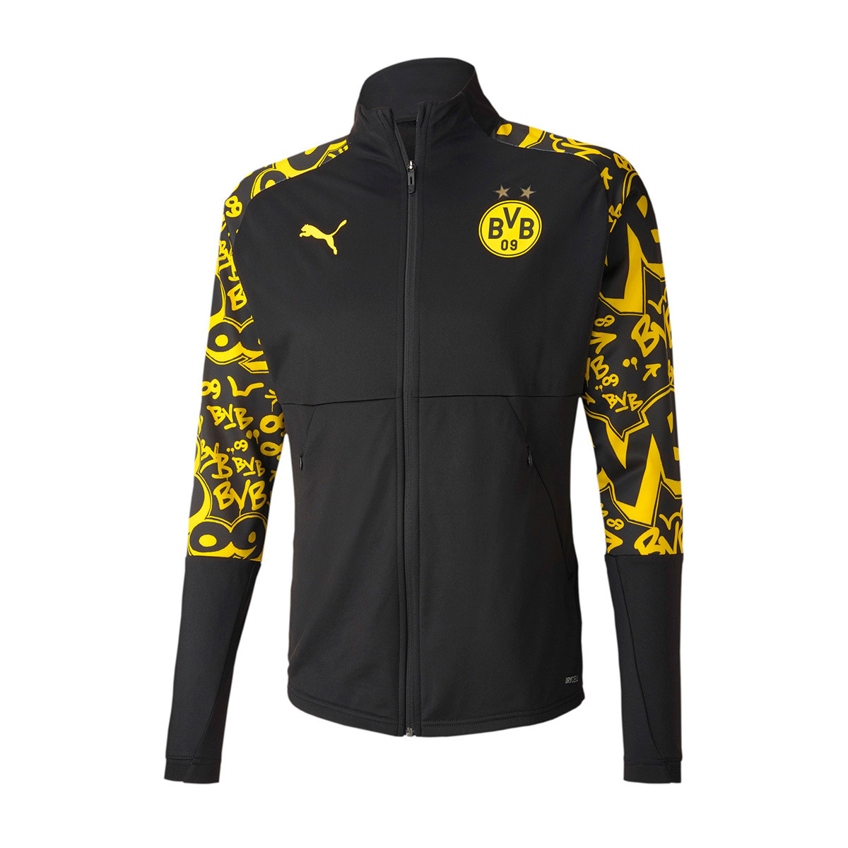 Jacket Puma BVB Borussia Dortmund Stadium 2020-2021 Puma Black ...