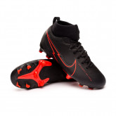 Chaussure de foot Mercurial Superfly VII Academy FG/MG Niño Black-Dark smoke grey-Chile red