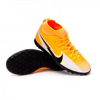 Mercurial Superfly VII Club Turf Enfant Laser orange-Black-White-Laser orange