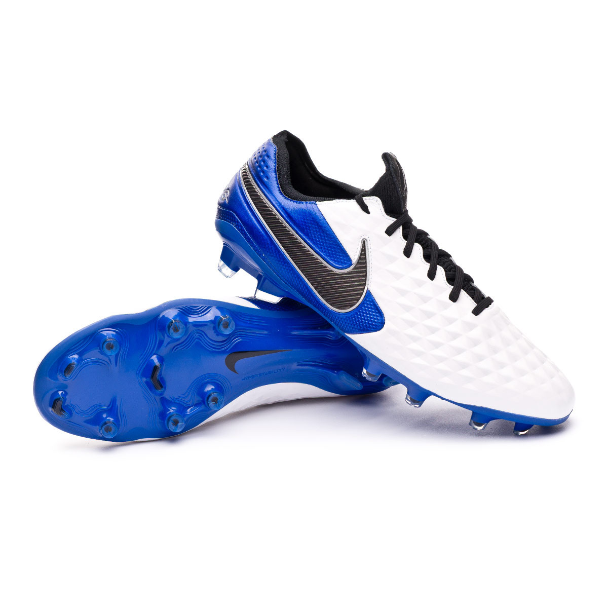 Microprocesador práctico Cerebro  Football Boots Nike Tiempo Legend VIII Elite FG White-Black-Hyper  royal-Metallic silver - Football store Fútbol Emotion