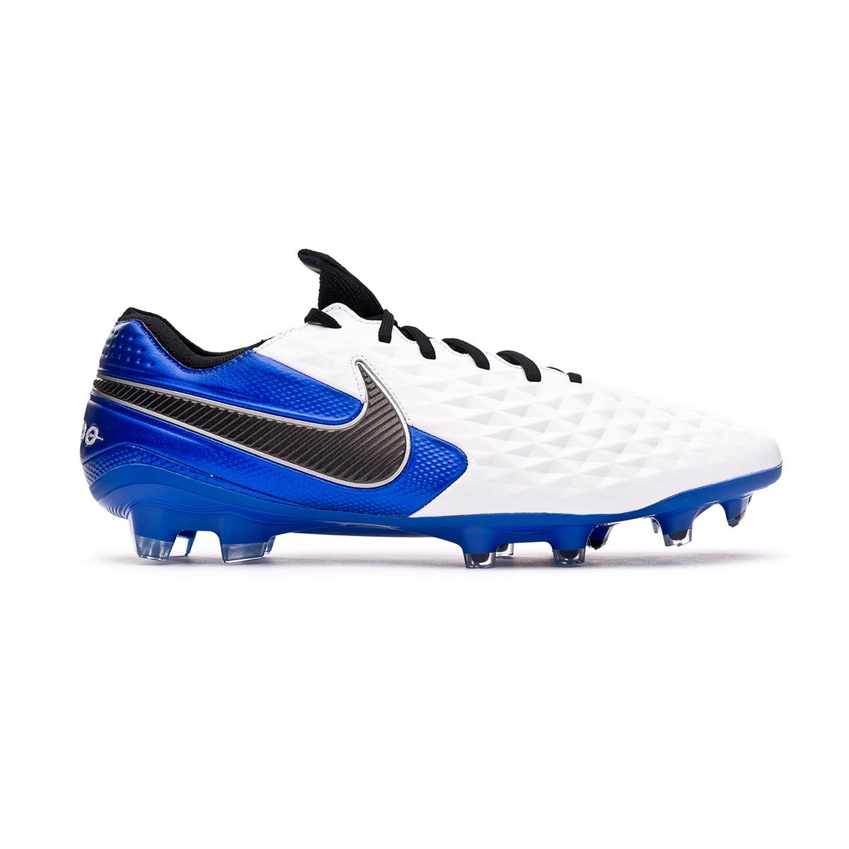 Acelerar Guardería hacerte molestar  Football Boots Nike Tiempo Legend VIII Elite FG White-Black-Hyper  royal-Metallic silver - Football store Fútbol Emotion