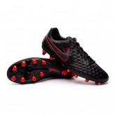 Football Boots Tiempo Legend VIII Pro AG-PRO Black-Dark smoke grey-Chile red