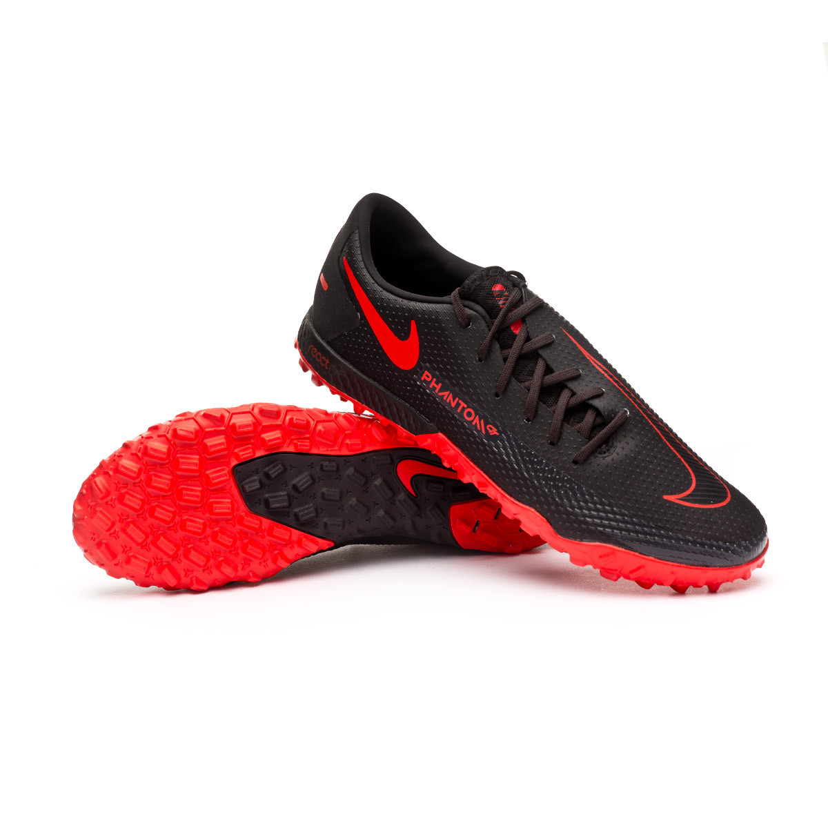 Primitivo colisión cilindro  Football Boots Nike React Phantom GT Pro Turf Black-Chile red-Dark smoke  grey - Football store Fútbol Emotion