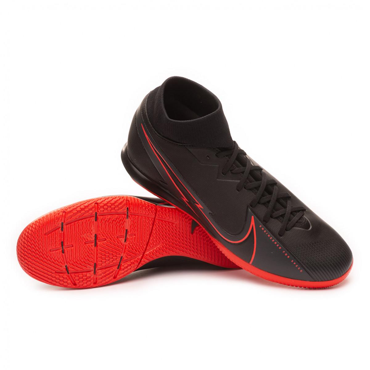 Sentimiento de culpa Hombre rico personalizado  Futsal Boot Nike Mercurial Superfly VII Academy IC Black-Black-Dark smoke  grey-Chile red - Football store Fútbol Emotion