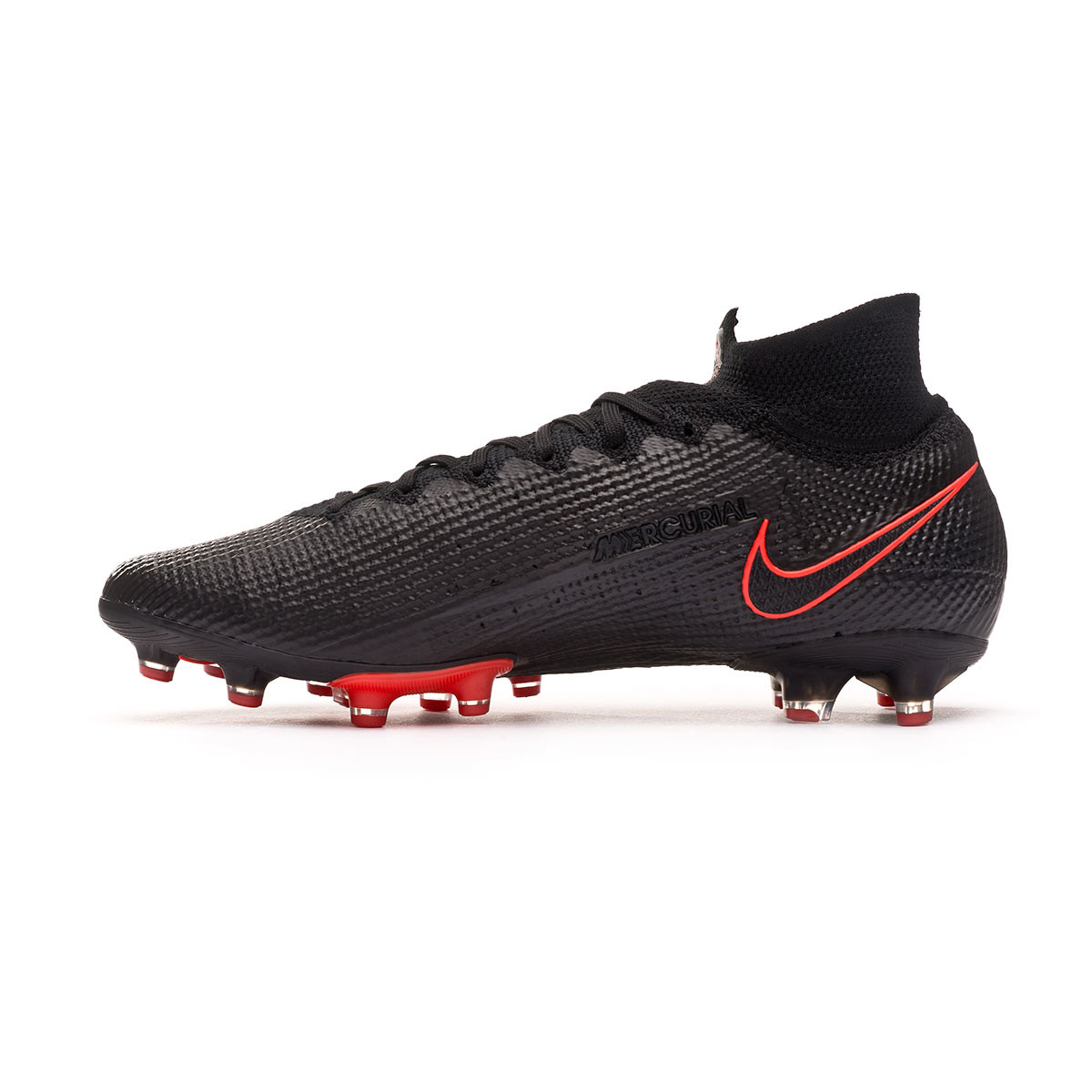 Factibilidad Un pan tarde  Football Boots Nike Mercurial Superfly VII Elite AG-PRO Black-Dark smoke  grey-Chile red - Football store Fútbol Emotion
