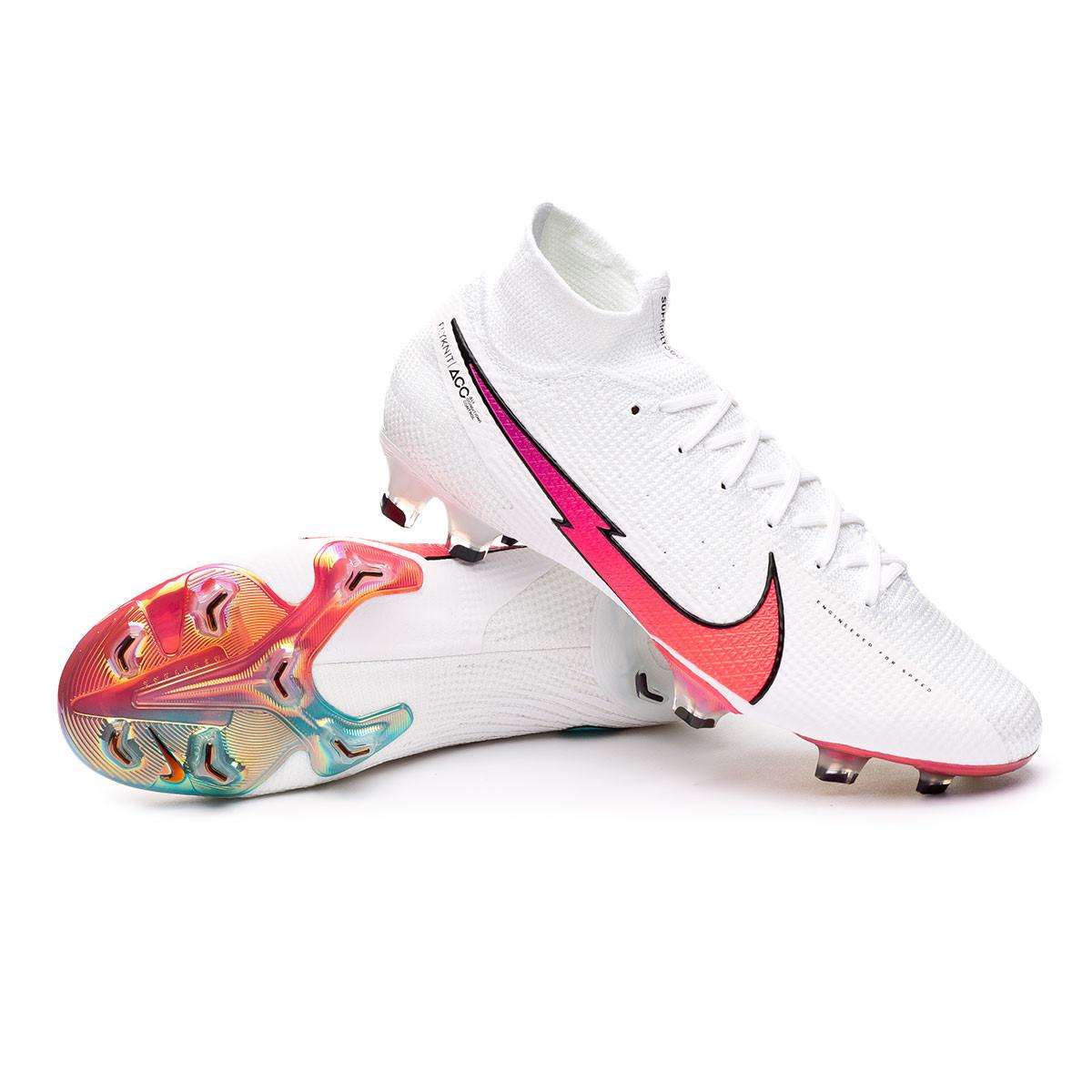 Chaussure de foot Nike Mercurial Superfly VII Elite FG White-Flash ...