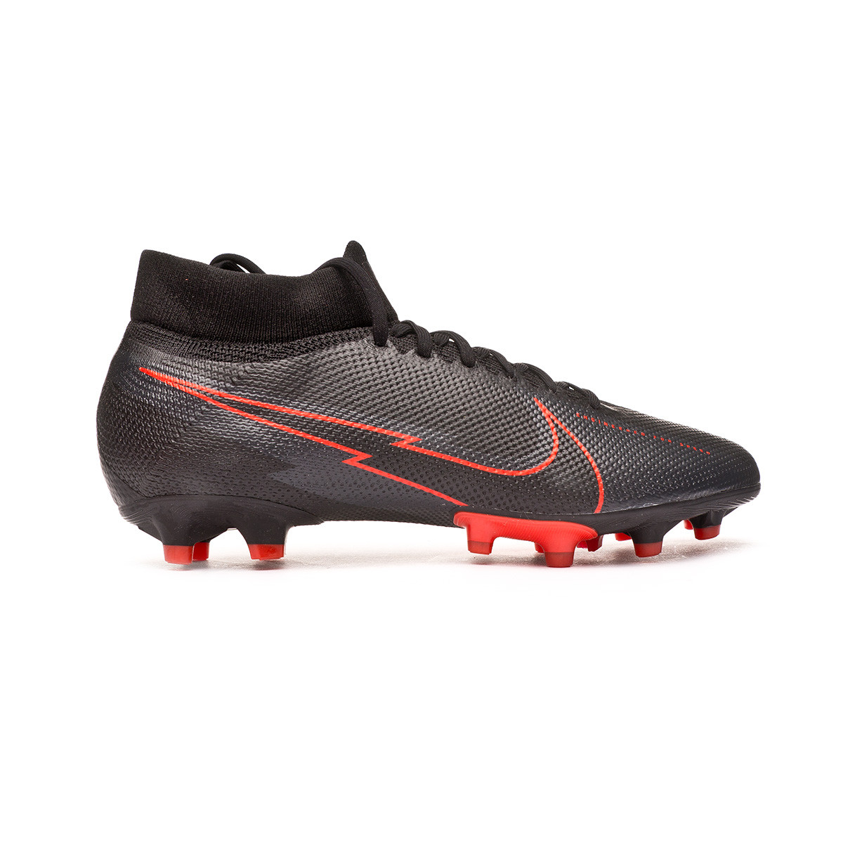 Es una suerte que extinción interior  Football Boots Nike Mercurial Superfly VII Pro AG-PRO Black-Dark smoke  grey-Chile red - Football store Fútbol Emotion