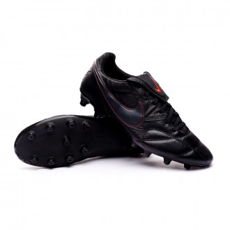 Tiempo Premier II FG Black-Dark smoke grey-Chile red
