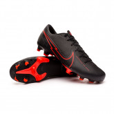 Chaussure de foot Mercurial Vapor XIII Academy FG/MG Black-Dark smoke grey-Chile red