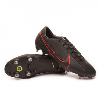 Mercurial Vapor XIII Academy SG-PRO Anti-Clog Traction Black-Dark smoke grey-Chile red