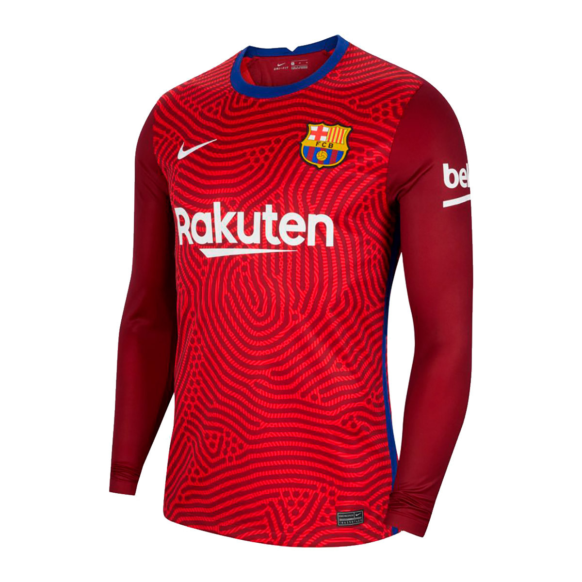 jersey nike fc barcelona stadium primera equipacion portero 2020 2021 university red team red white football store futbol emotion football boots