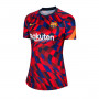 FC Barcelona Pre Match Top 2020-2021 Mujer University red