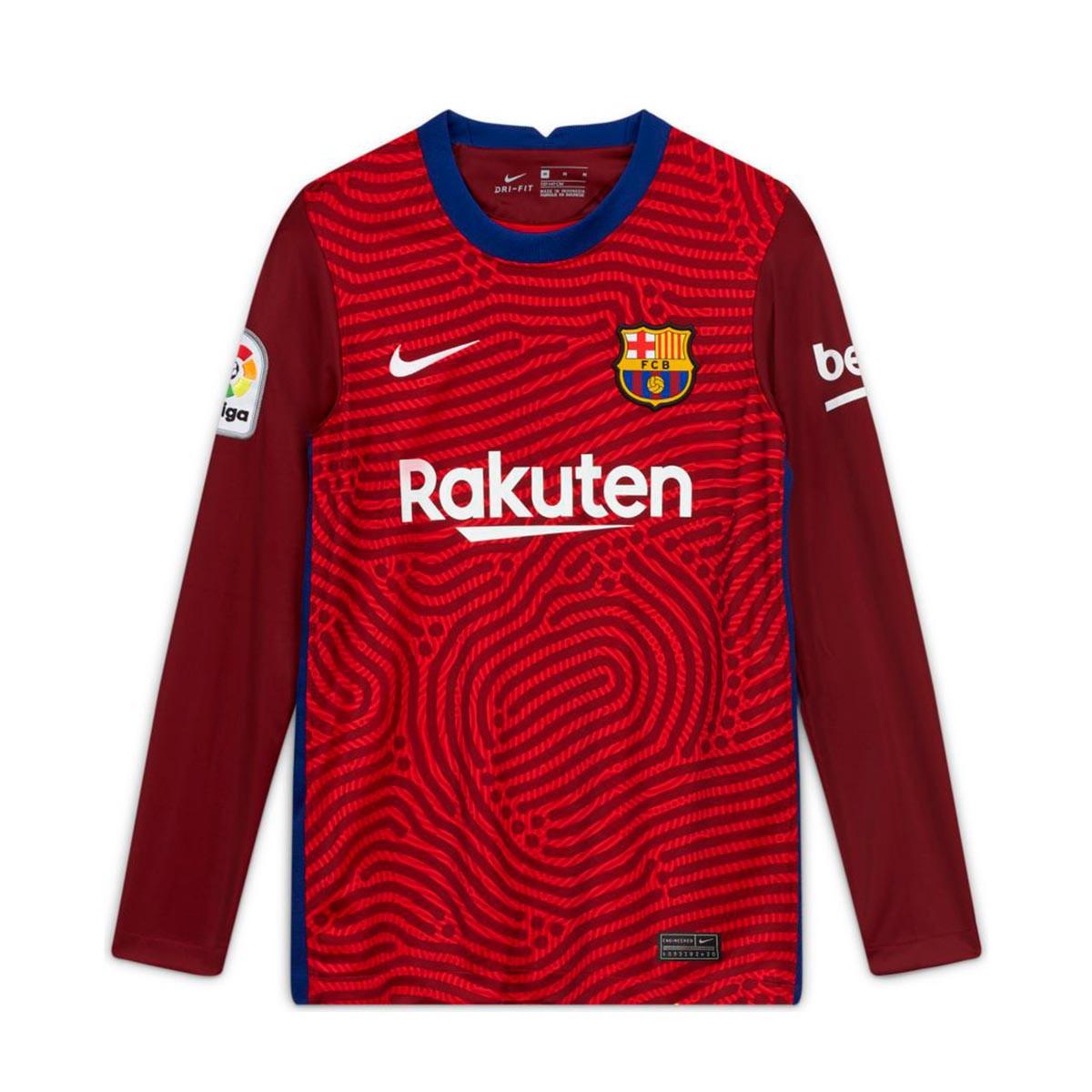 jersey nike fc barcelona stadium segunda equipacion portero 2020 2021 nino university red team red white football store futbol emotion nike fc barcelona stadium segunda equipacion portero 2020 2021 nino jersey