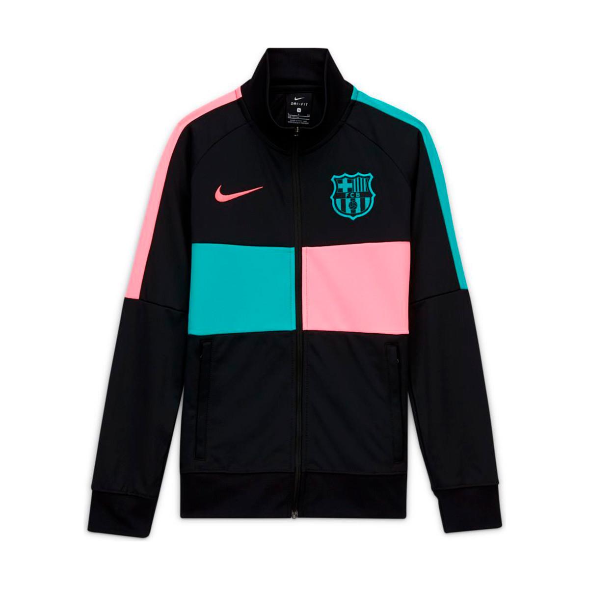Frugal siesta mosquito  Chamarra Nike FC Barcelona I96 Anthem CL 2020-2021 Niño Black-Pink beam-New  green - Tienda de fútbol Fútbol Emotion