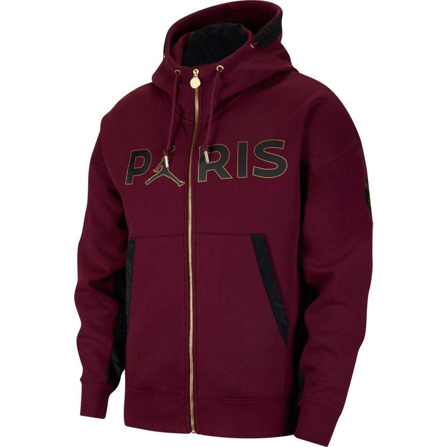 Giacca Nike Jordan x Paris Saint-Germain Fleece Travel Full-Zip 2020-2021