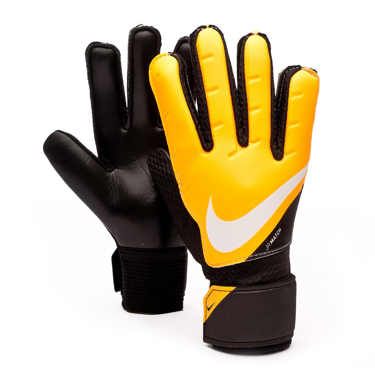 Comprensión ola Etna  Glove Nike Match Niño Black-Laser orange-White - Football store Fútbol  Emotion