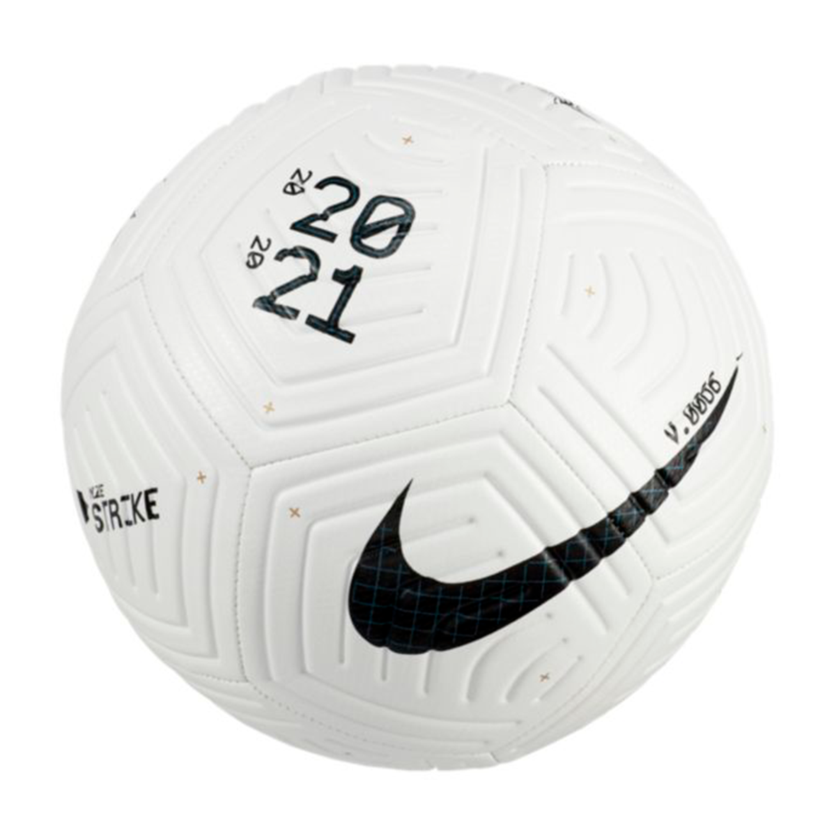 Litoral Desgracia datos  Ball Nike Strike 2020-2021 White-Black - Football store Fútbol Emotion