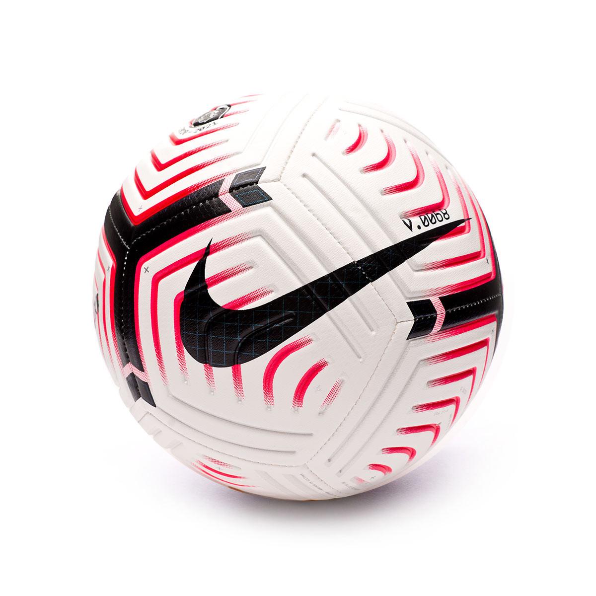 vendaje Mal occidental  Ball Nike Premier League Strike 2020-2021 White-Laser crimson-Black -  Football store Fútbol Emotion