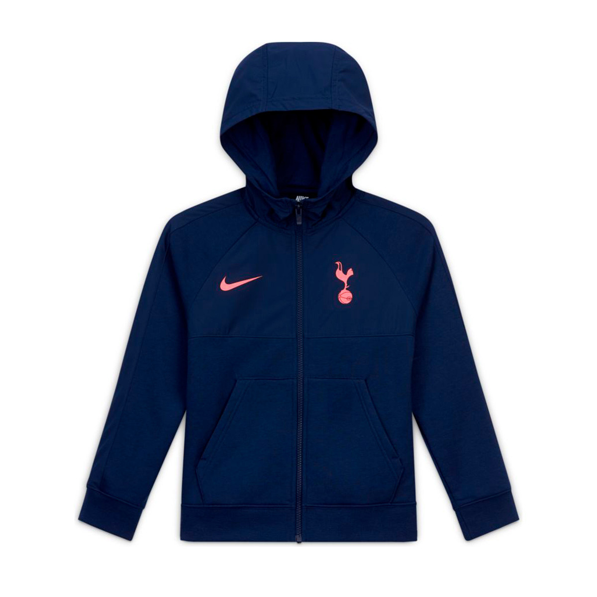 Sweatshirt Nike Tottenham Hotspur Fc Nsw Hybrid Fz 2020 2021 Nino Binary Blue Lava Glow Football Store Futbol Emotion