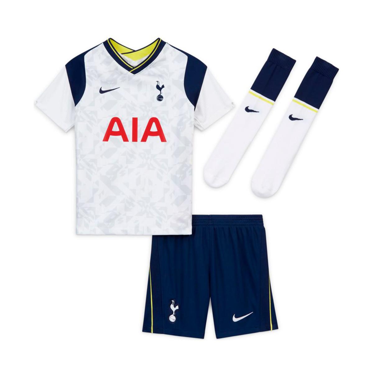 Kit Nike Kids Tottenham Hotspur Fc Home Kit 2020 2021 White Binary Blue Futbol Emotion
