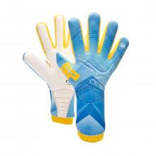 Guanti No Goal Zero Pro Bambino Blue-Yellow