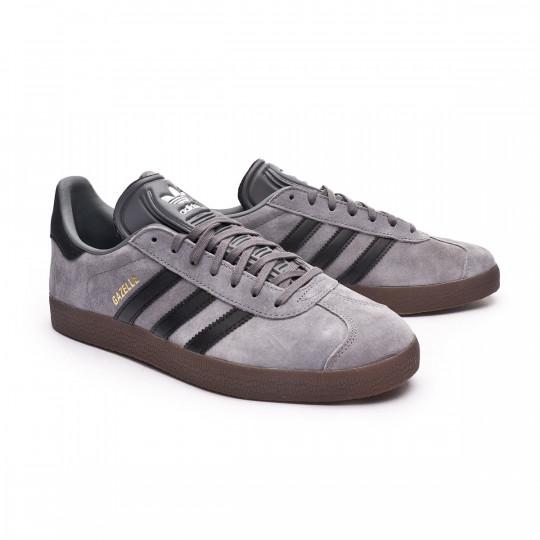 Baskets adidas Gazelle Grey four-Core black-Gum five - Fútbol Emotion