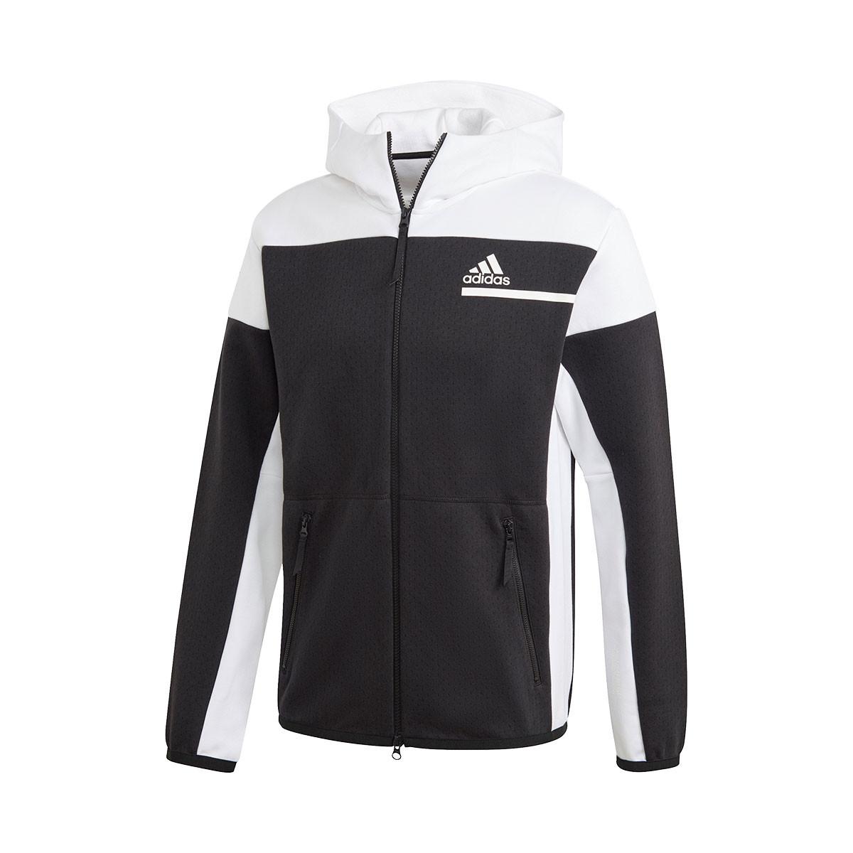 arpón réplica Mitones  Jacket adidas ZNE Full Zip Black-White - Football store Fútbol Emotion