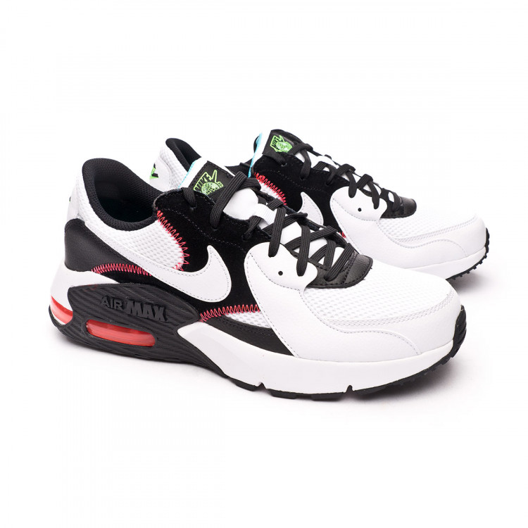 Air Max Excee White-White-Black-Flash crimson-Green strike
