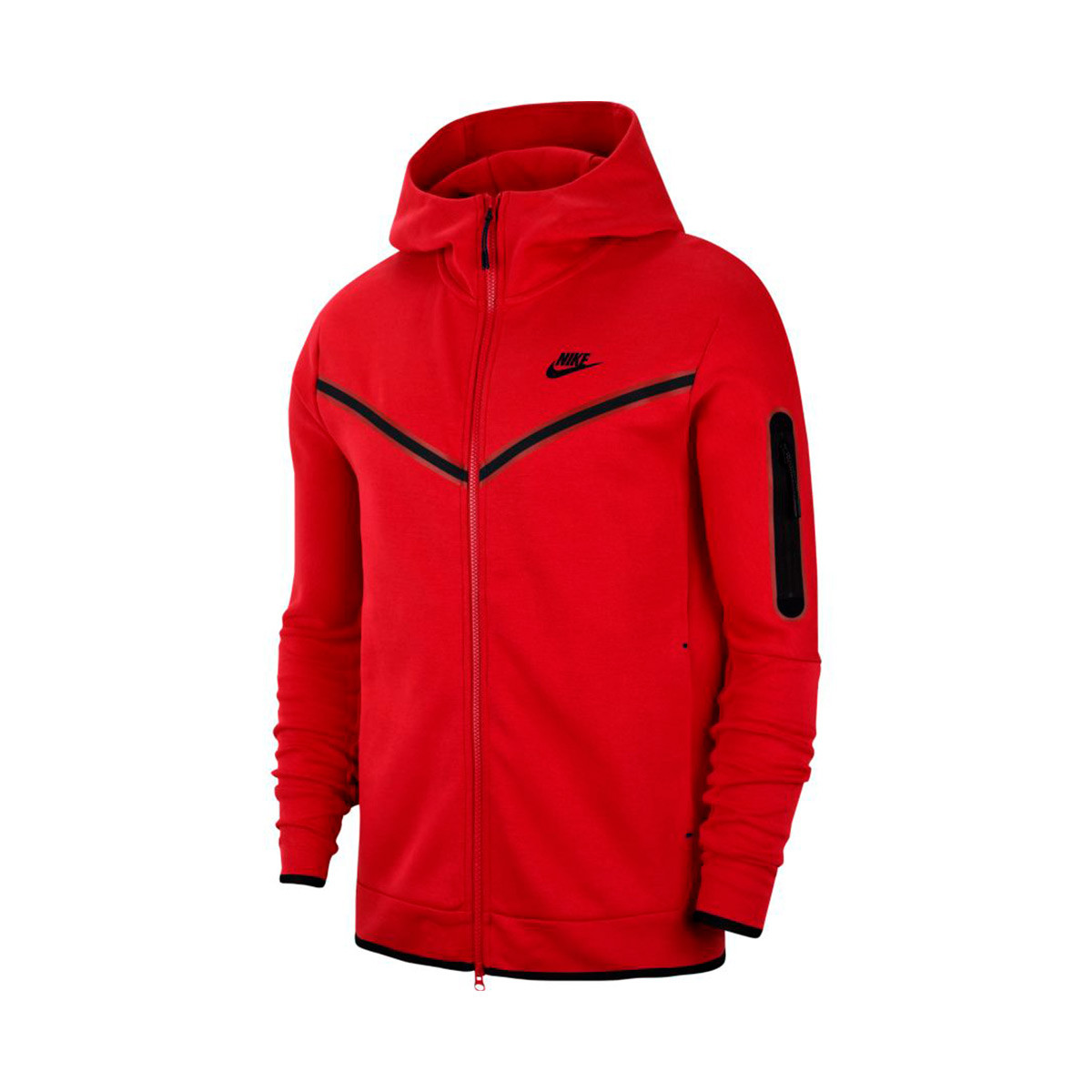 Jacket Nike Sportswear Tech Fleece Hoodie Full Zip University Red Black Football Store Futbol Emotion