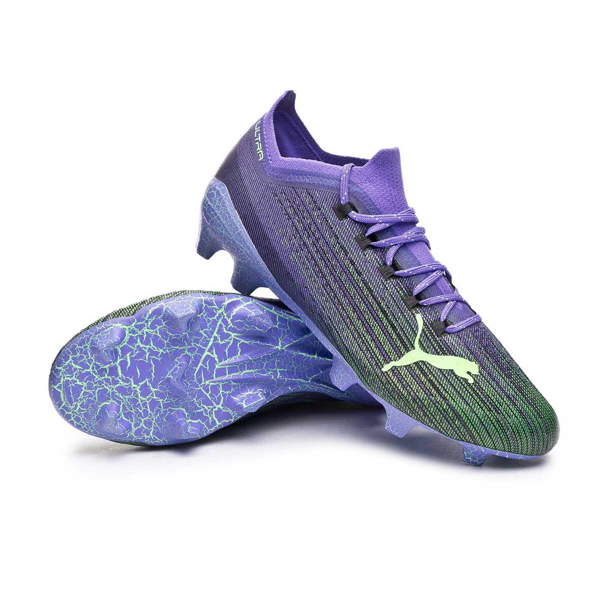 Football Boots Puma Ultra 1.1 FEAR FG/AG Luminous purple-Elektro ...