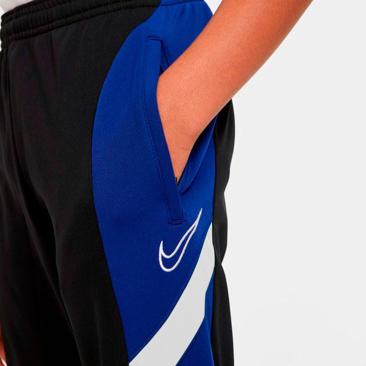 semestre Universal Robusto  Long pants Nike Dri-Fit Academy Track FP MX Niño Black-Deep royal  blue-White-White - Football store Fútbol Emotion