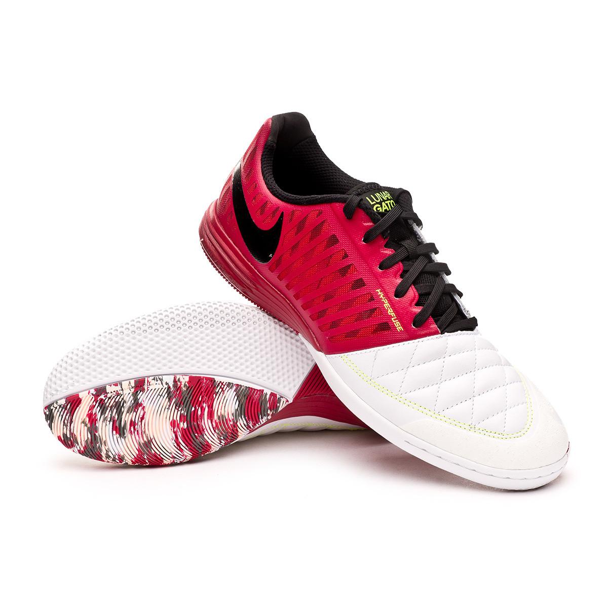 traición Volverse loco carolino  Futsal Boot Nike Lunar Gato II Cardinal red-Crimson tint-Black-White-Iron  gr - Football store Fútbol Emotion