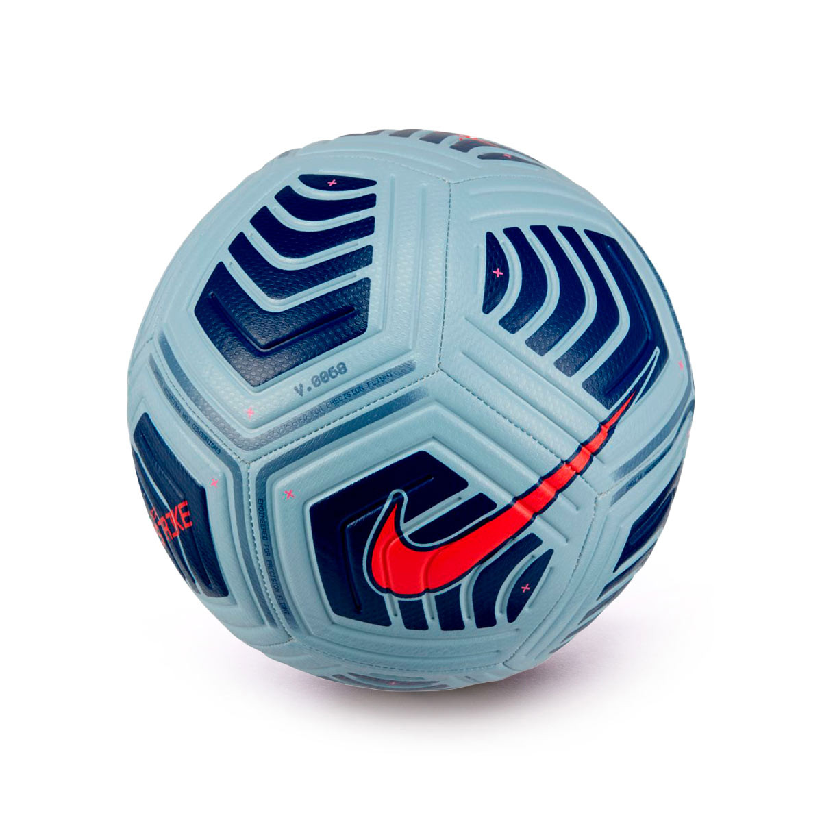 Ball Nike Strike 2020 2021 Light Armory Blue Blue Void Bright Crimson Fútbol Emotion