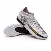 Zapatos de fútbol Phantom GT Academy DF SE Turf Pure platinum-Metallic silver-Black-Speed yel