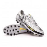 Zapatos de fútbol Phantom GT Academy SE AG Pure platinum-Metallic silver-Black-Speed yel