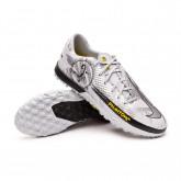 Zapatos de fútbol Phantom GT Academy SE Turf Pure platinum-Metallic silver-Black-Speed yel