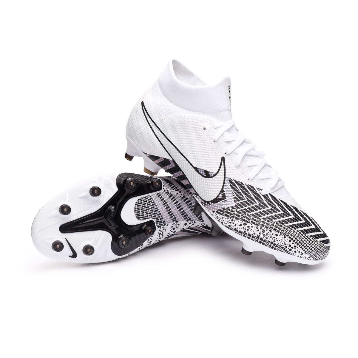 Componer Estereotipo Aislar  Football Boots Nike Mercurial Superfly VII Pro MDS AG-PRO White-Black -  Football store Fútbol Emotion