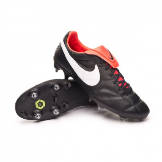 Tiempo Premier II SG-PRO Anti-Clog Traction Black-White-Bright crimson
