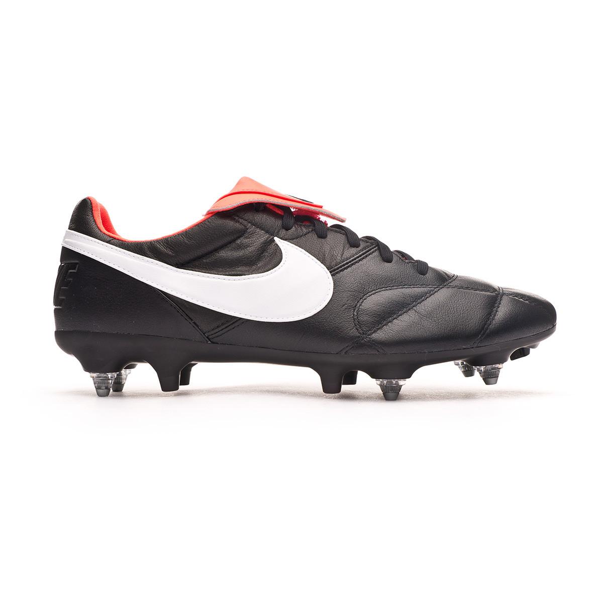 la seguridad Alpinista Multiplicación  Football Boots Nike Tiempo Premier II SG-PRO Anti-Clog Traction  Black-White-Bright crimson - Football store Fútbol Emotion