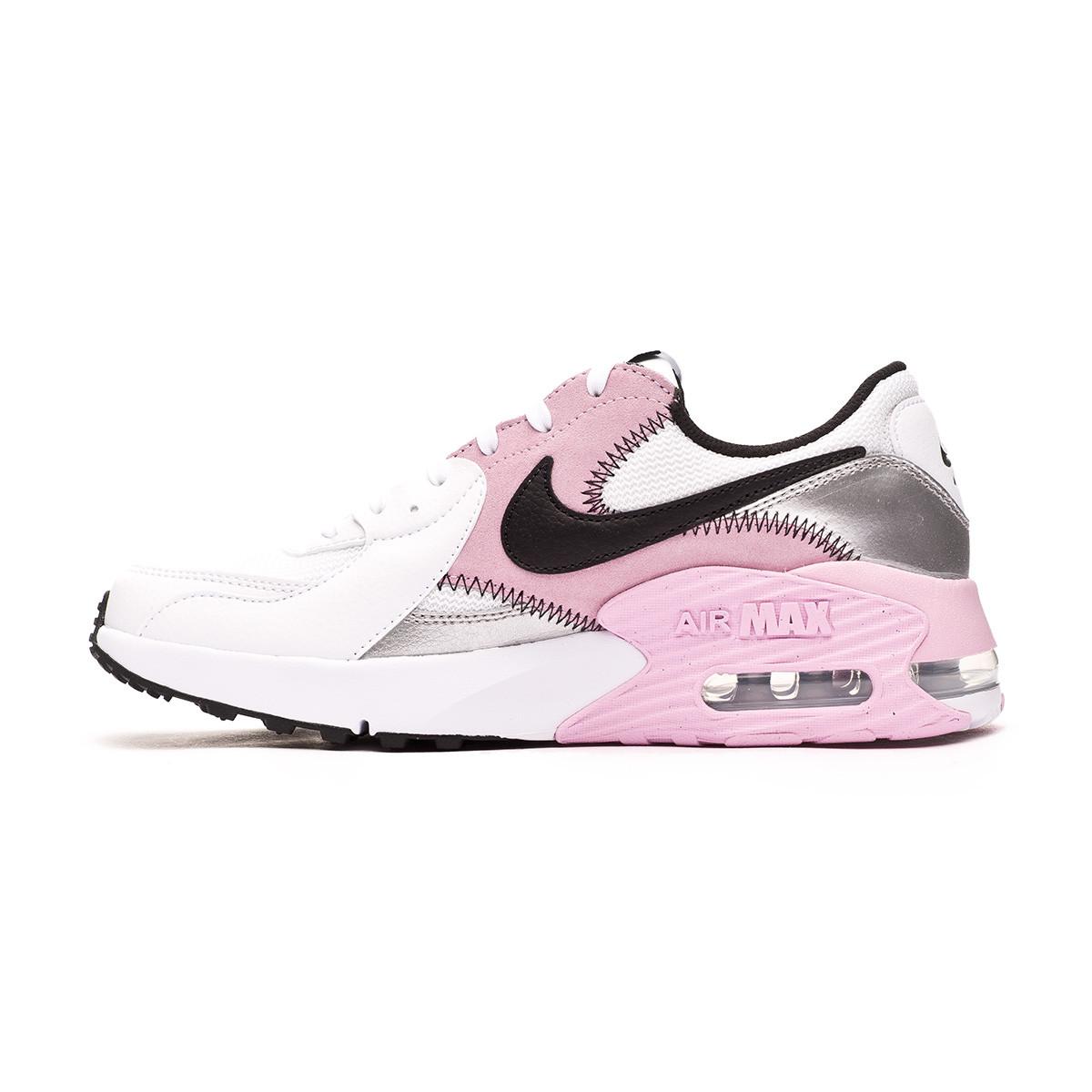 espacio Ambicioso interferencia  Trainers Nike Air Max Excee Mujer White-Black-Lite artic pink-Metallic  silver - Football store Fútbol Emotion